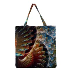 Fractal Patterns Abstract 3840x2400 Grocery Tote Bag by amphoto