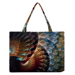 Fractal Patterns Abstract 3840x2400 Zipper Medium Tote Bag by amphoto
