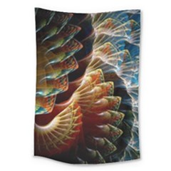 Fractal Patterns Abstract 3840x2400 Large Tapestry by amphoto