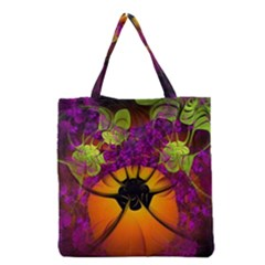 Patterns Lines Purple  Grocery Tote Bag by amphoto