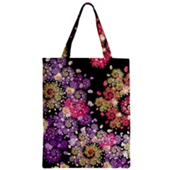 Abstract Patterns Fractal  Zipper Classic Tote Bag by amphoto