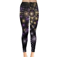 Fractal Patterns Dark Leggings  by amphoto