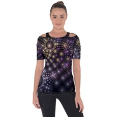 Fractal Patterns Dark Short Sleeve Top by amphoto