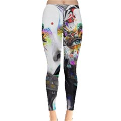 Abstraction Painting Girl  Leggings  by amphoto