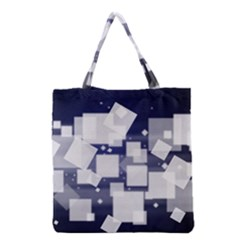 Squares Shapes Many  Grocery Tote Bag by amphoto