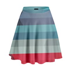 Line Light Pattern  High Waist Skirt by amphoto