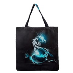 Dragon Classical Light  Grocery Tote Bag by amphoto