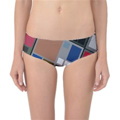 Abstract Composition Classic Bikini Bottoms