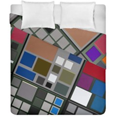 Abstract Composition Duvet Cover Double Side (california King Size) by Nexatart