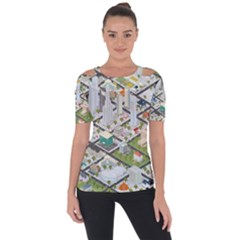 Simple Map Of The City Short Sleeve Top