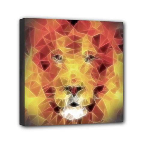 Fractal Lion Mini Canvas 6  X 6