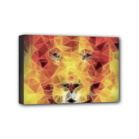 Fractal Lion Mini Canvas 6  X 4  by Nexatart