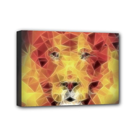 Fractal Lion Mini Canvas 7  X 5  by Nexatart