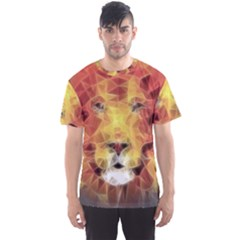 Fractal Lion Men s Sports Mesh Tee by Nexatart