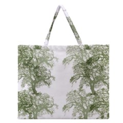Trees Tile Horizonal Zipper Large Tote Bag