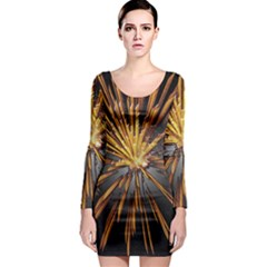 Pyrotechnics Thirty Eight Long Sleeve Bodycon Dress by Nexatart