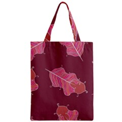 Plumelet Pen Ethnic Elegant Hippie Zipper Classic Tote Bag by Nexatart