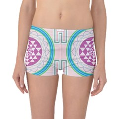 Mandala Design Arts Indian Boyleg Bikini Bottoms by Nexatart