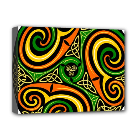 Celtic Celts Circle Color Colors Deluxe Canvas 16  X 12