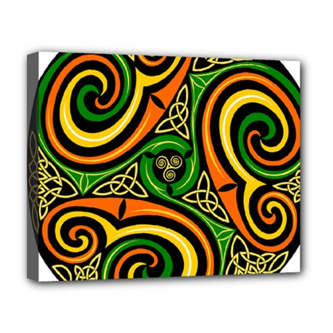 Celtic Celts Circle Color Colors Deluxe Canvas 20  X 16