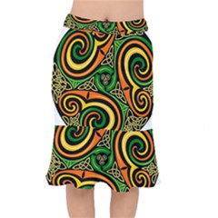 Celtic Celts Circle Color Colors Mermaid Skirt