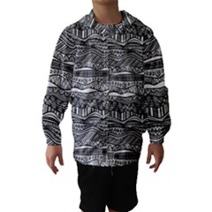 Ethno Seamless Pattern Hooded Wind Breaker (kids)