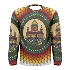 Building Mandala Palace Men s Long Sleeve Tee