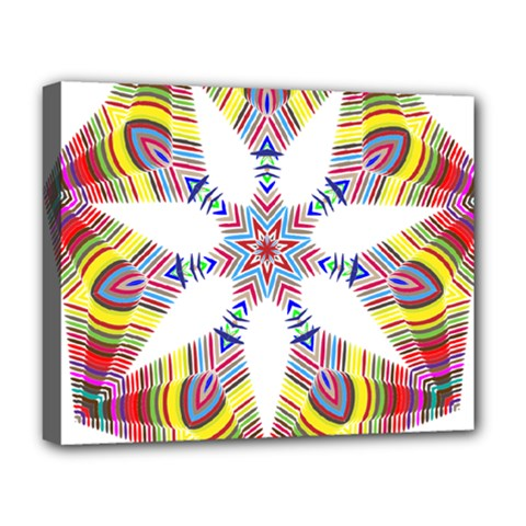 Colorful Chromatic Psychedelic Deluxe Canvas 20  X 16   by Nexatart