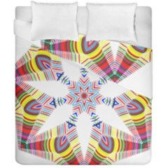 Colorful Chromatic Psychedelic Duvet Cover Double Side (california King Size) by Nexatart