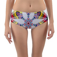 Colorful Chromatic Psychedelic Reversible Mid-waist Bikini Bottoms by Nexatart