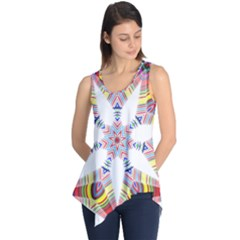 Colorful Chromatic Psychedelic Sleeveless Tunic