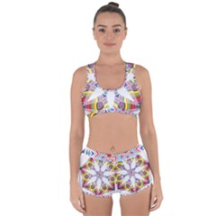 Colorful Chromatic Psychedelic Racerback Boyleg Bikini Set