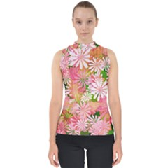Pink Flowers Floral Pattern Shell Top