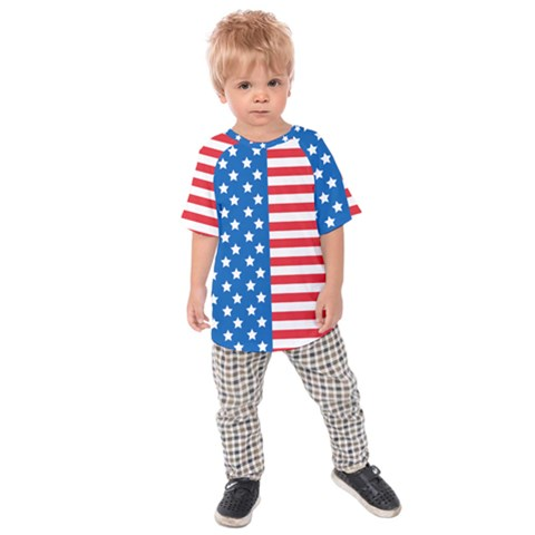 Usa Flag Kids Raglan Tee by stockimagefolio1