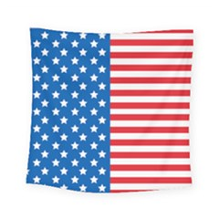 Usa Flag Square Tapestry (small) by stockimagefolio1