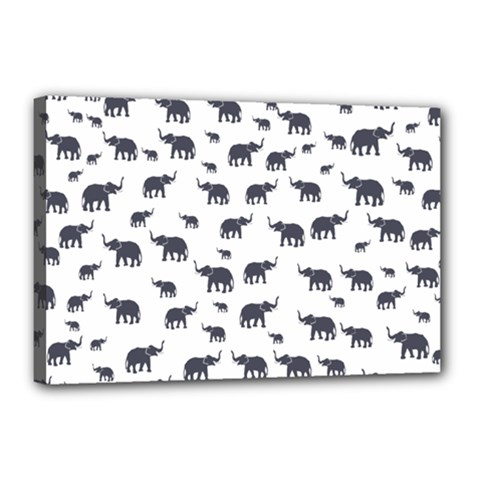 Elephant Pattern Canvas 18  X 12  by stockimagefolio1