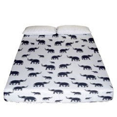 Elephant Pattern Fitted Sheet (california King Size) by stockimagefolio1