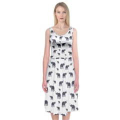 Elephant Pattern Midi Sleeveless Dress by stockimagefolio1
