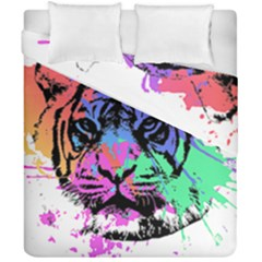 Tiger Duvet Cover Double Side (california King Size) by stockimagefolio1