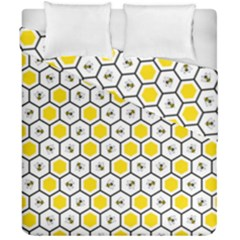 Bee Pattern Duvet Cover Double Side (california King Size) by stockimagefolio1