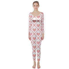 Heart Pattern Long Sleeve Catsuit by stockimagefolio1