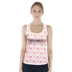 Heart Pattern Racer Back Sports Top by stockimagefolio1