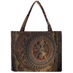 Steampunk, Awesoeme Clock, Rusty Metal Mini Tote Bag by FantasyWorld7