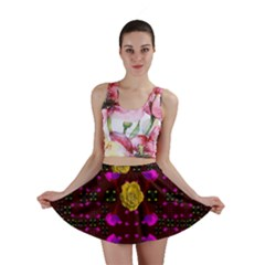 Roses In The Air For Happy Feelings Mini Skirt by pepitasart