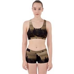 Borobudur Temple Indonesia Work It Out Sports Bra Set by Nexatart