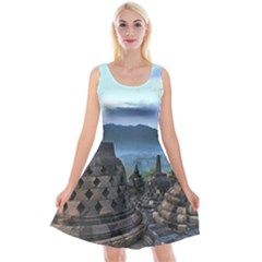 Borobudur Temple  Morning Serenade Reversible Velvet Sleeveless Dress