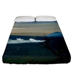 Bromo Caldera De Tenegger  Indonesia Fitted Sheet (california King Size)