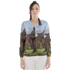 Komodo Dragons Fight Wind Breaker (women) by Nexatart