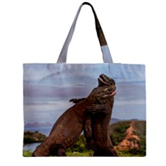 Komodo Dragons Fight Medium Tote Bag by Nexatart