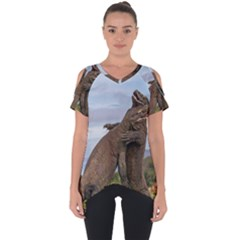Komodo Dragons Fight Cut Out Side Drop Tee